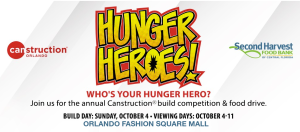 Hunger Heroes Canstruction Build