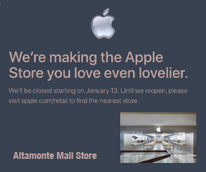 Altamonte's Apple Store Closed for Renovation in 2019 – Otownfun