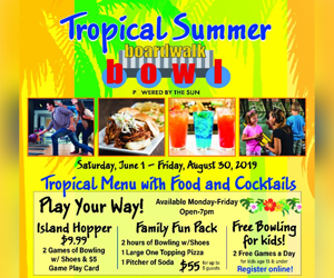 2019 Aloma Bowling Centers introduces Tropical Summer discounts and
