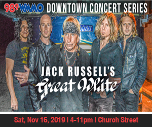 WMMO Jack Russell Great White Band Ad19